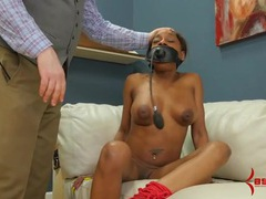 Kinky black hottie fucked up the butt by a black dick videos