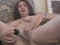 Big natural breasts are beautiful on a masturbating mom movies at lingerie-mania.com