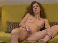 Long curly hair is so sexy on this masturbating milf movies at find-best-panties.com