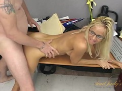 Eating out his hot milf secretary and pounding her movies at freekilomovies.com