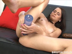 Petite ashley woods makes her pussy cum from huge dildo movies at find-best-ass.com