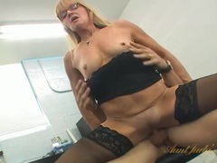 Hot standing doggystyle fuck with his secretary slut videos