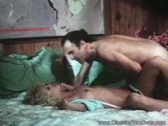 Blonde housewife from 1977 gets fucked clip