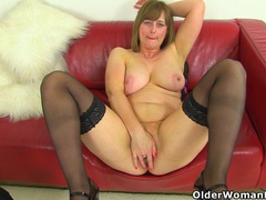 Uk milf april's finger can barely enter her tight pussy movies at find-best-mature.com