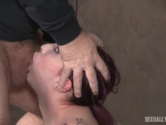 Sub rides the sybian and sucks on a big cock movies at find-best-videos.com