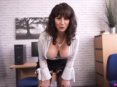 Milf secretary is a perfect tease to get you off movies at find-best-pussy.com