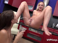 Piss loving lesbians pee in their mouths videos