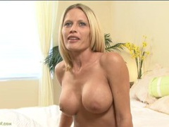 Topless milf chats and shows off those titties videos