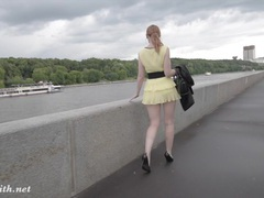 Jeny smith public flasher shares great upskirt views on the streets movies at kilopics.net