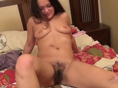 Chubby cutie in pink panties has a hairy pussy videos