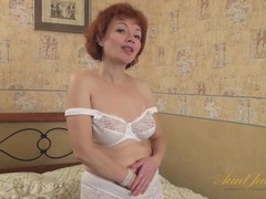 White lace granny panties look hot on mommy movies at nastyadult.info