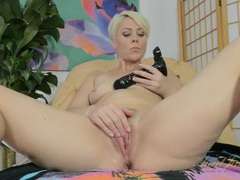 Black dildo pleases a hot and horny milf videos